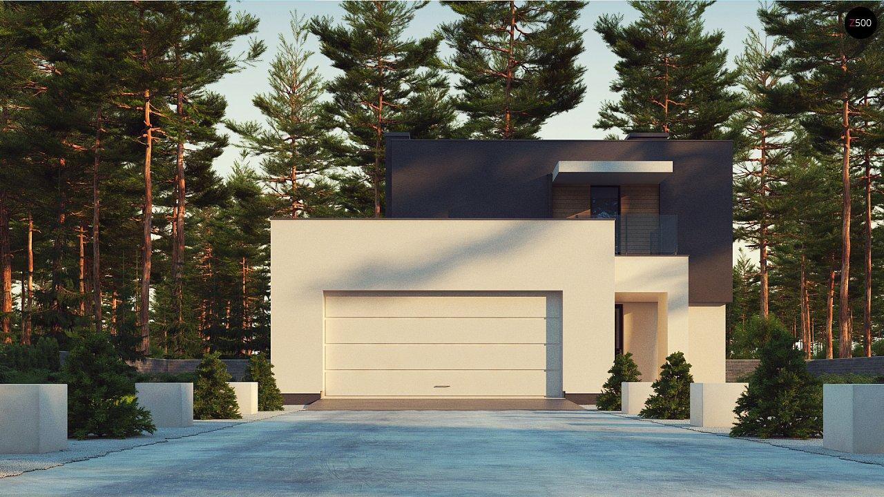 Двухэтажный дом с гаражом на две машины 2