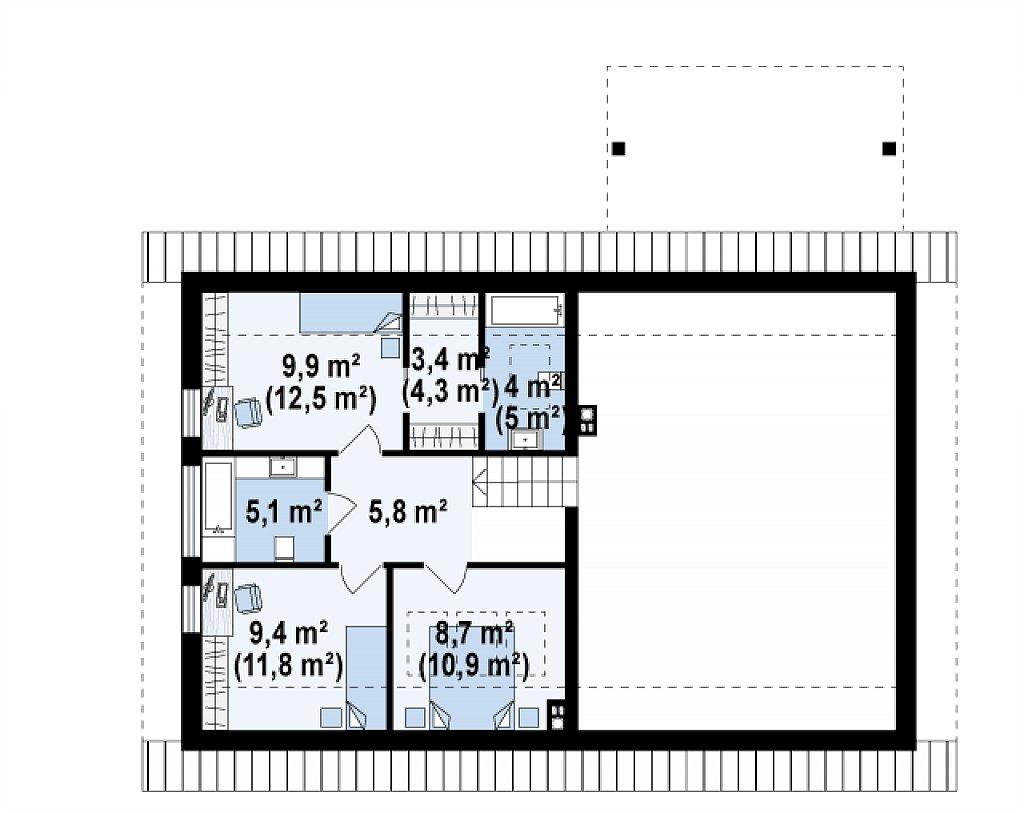 Аккуратный дом с тренажерным залом. план помещений 2