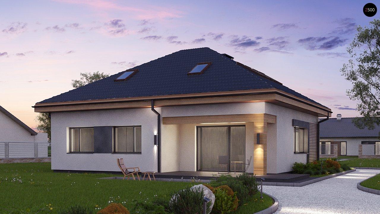Версия проекта Z273 с жилой мансардой, с увеличенной высотой аттиковой стены. - фото 4
