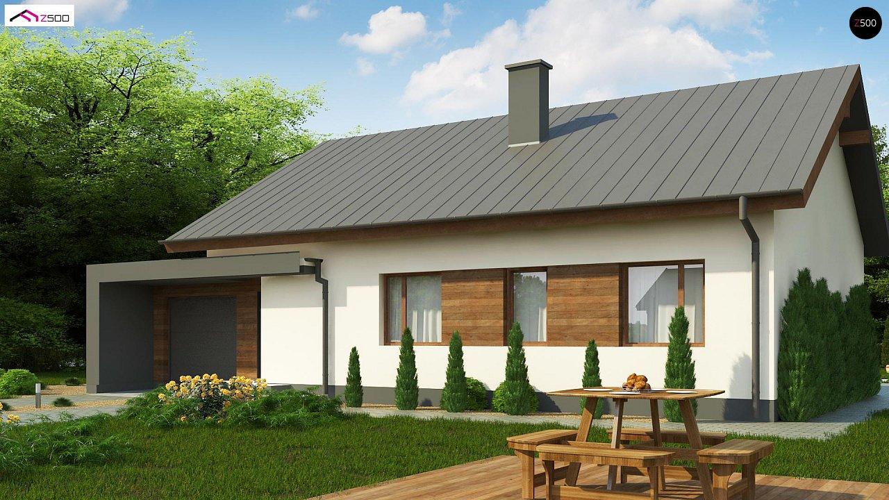 Дом, выполненный в традиционном стиле с одноуровневой планировкой. 2