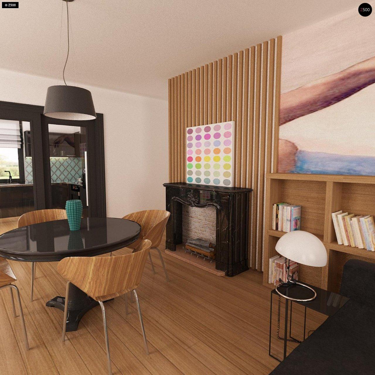 Практичный одноэтажный дом с гаражом для двух автомобилей и большим хозяйственным помещением. 8