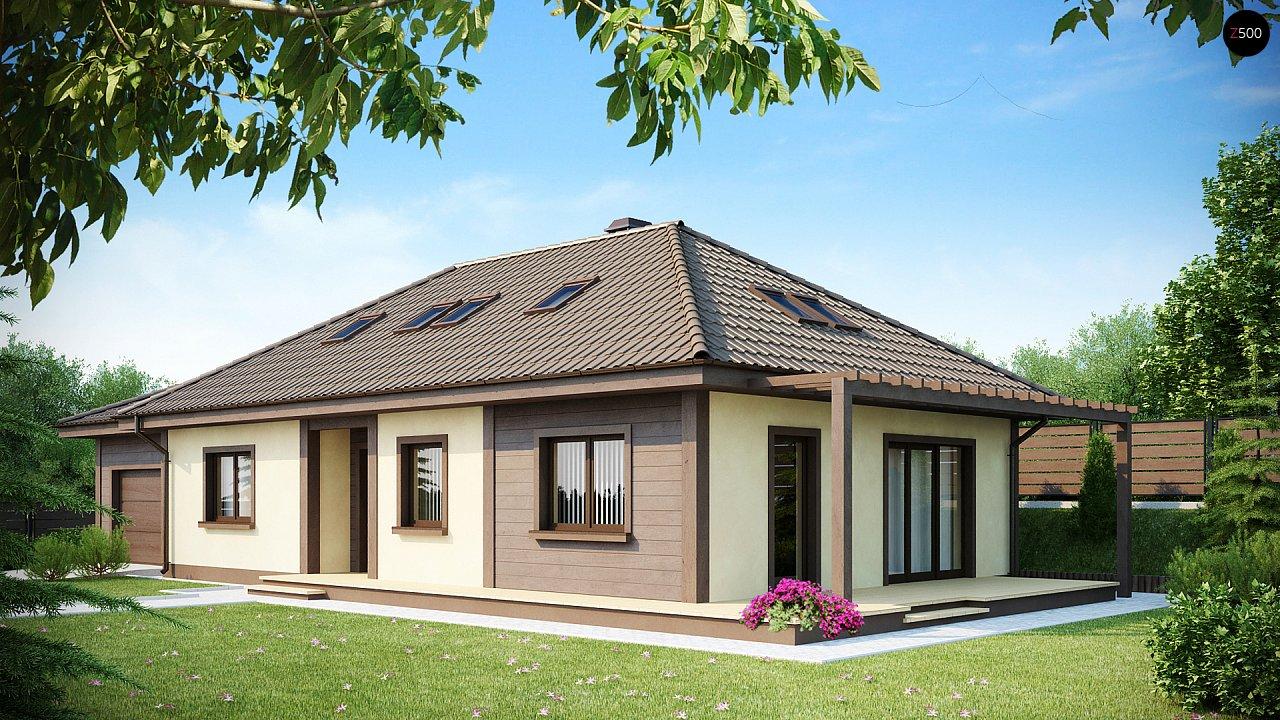 Просторный дом в традиционном стиле с двумя спальнями на мансарде. 2