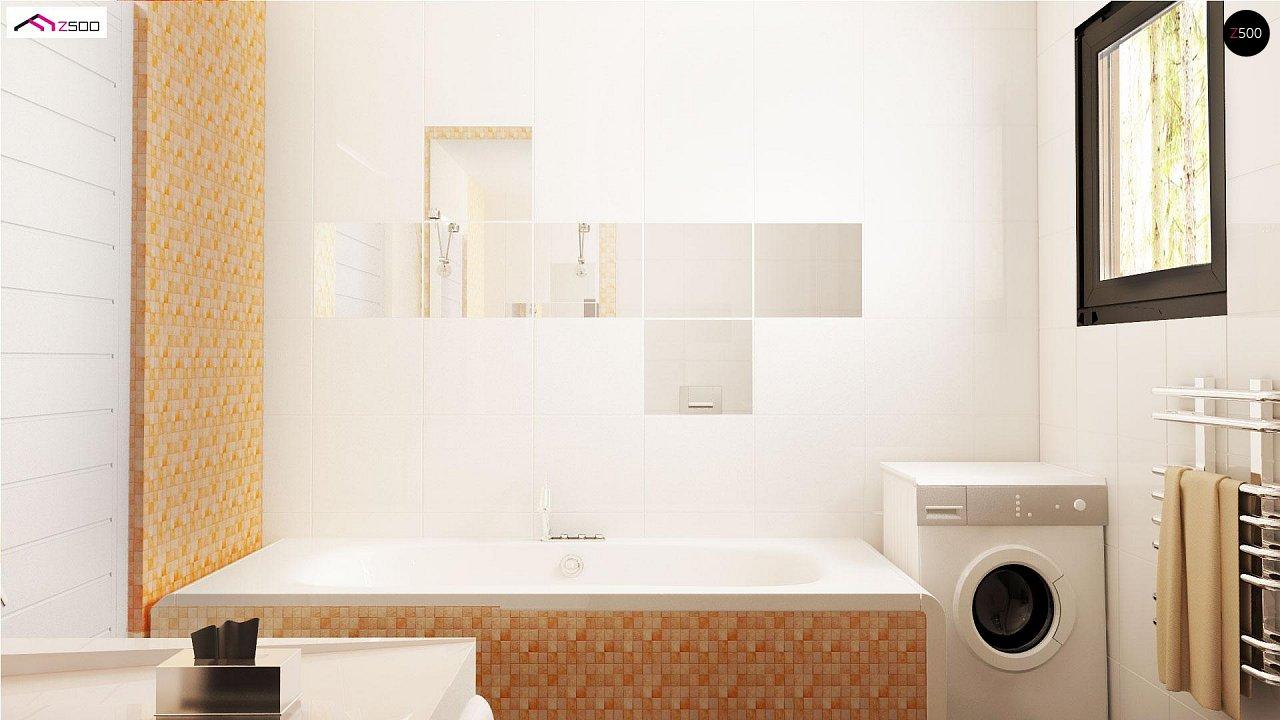 Проект выгодного одноэтажного дома с возможностью адаптации чердачного помещения. 11