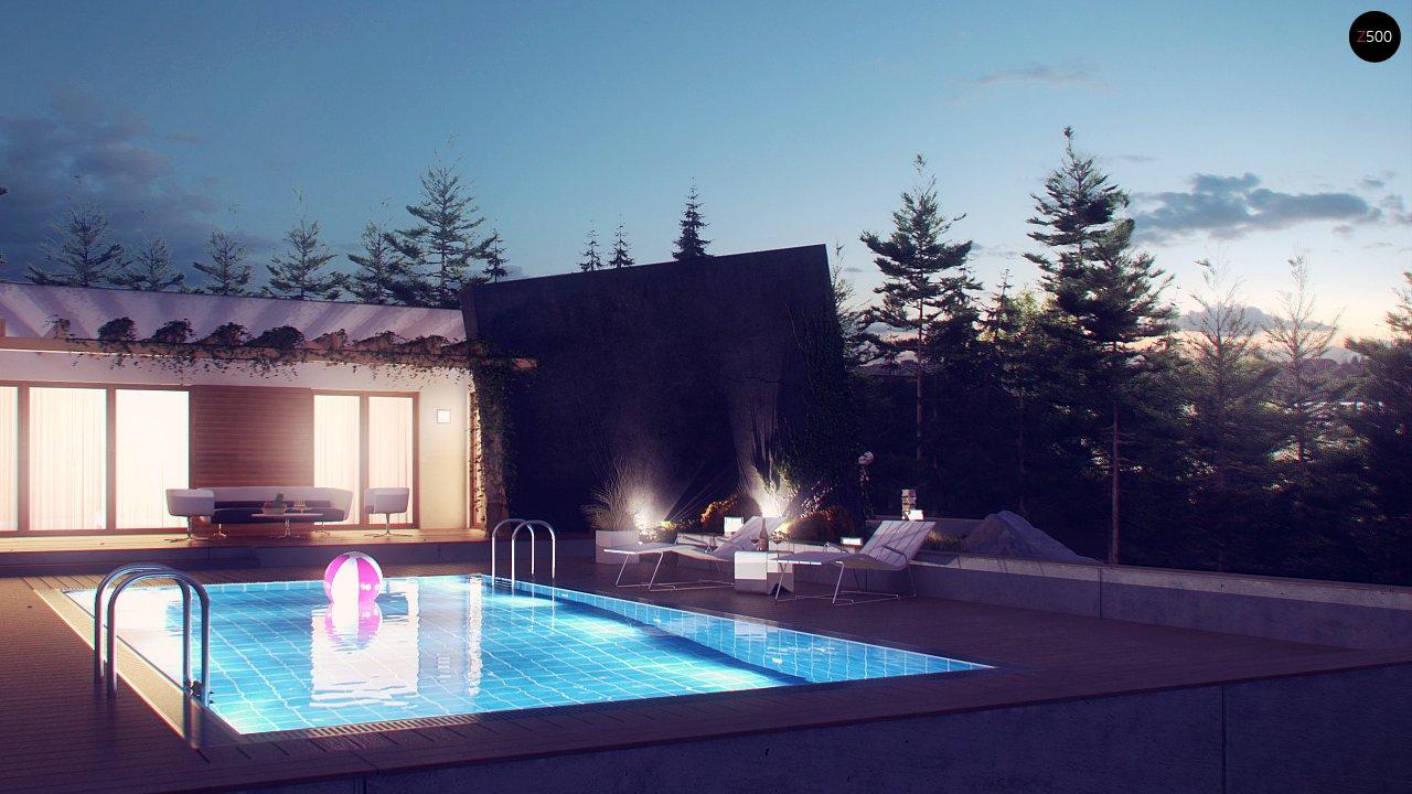 Одноэтажный дом исключительного современного дизайна. - фото 11