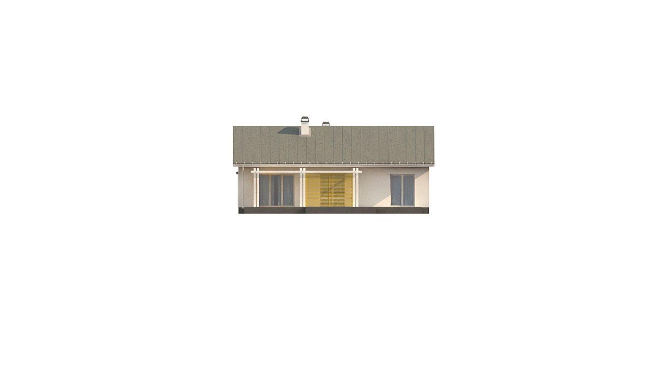 Простой и элегантный одноэтажный дом. 10