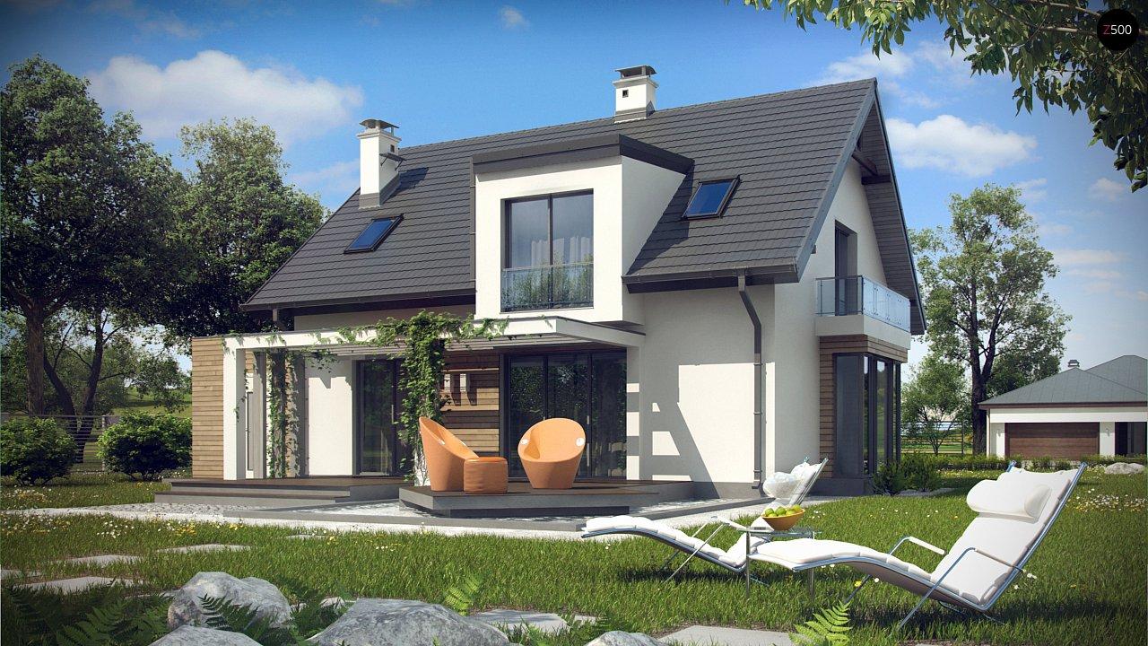 Стильный дом с оригинальными мансардными окнами, с гаражом и кабинетом на первом этаже. - фото 2