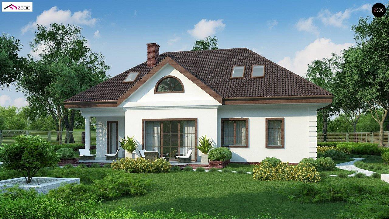 Проект дома в классическом стиле с роскошной мансардой и стильным экстерьером. - фото 4