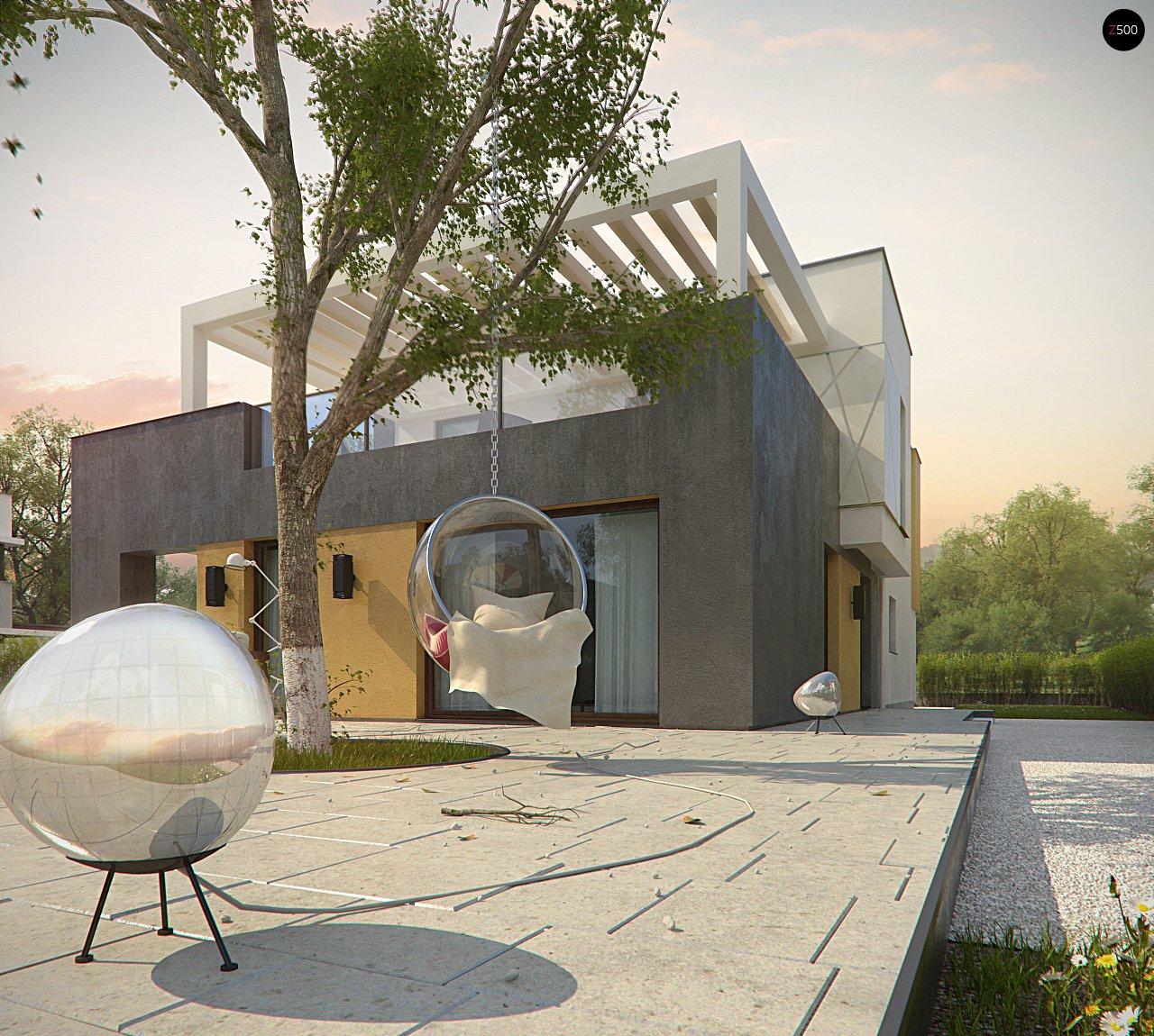 Дом характерного современного дизайна с гаражом и кабинетом на первом этаже. - фото 10