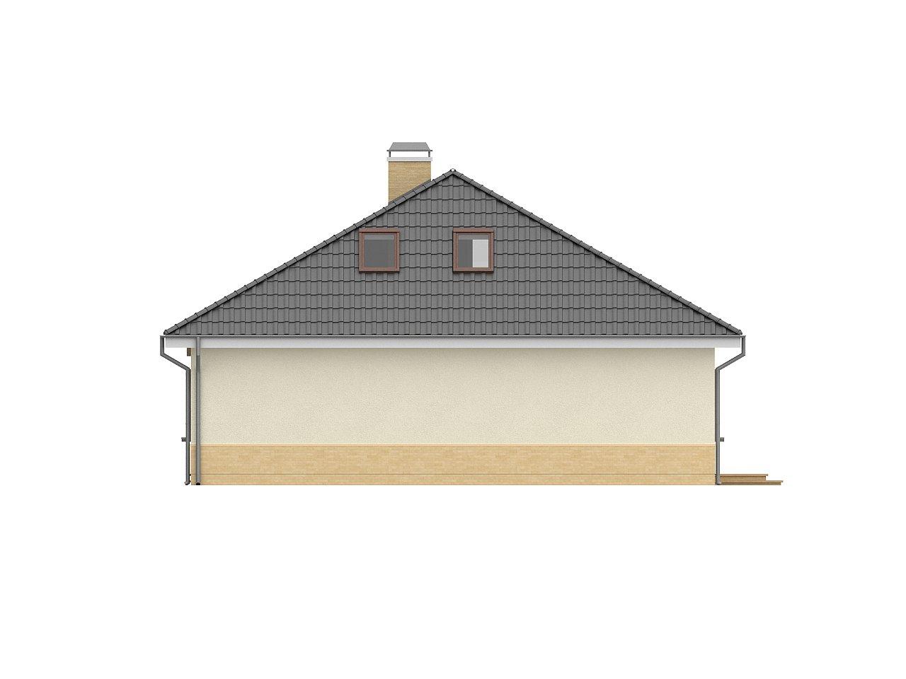 Традиционный дом с мансардой, с большим углом наклона крыши. - фото 5