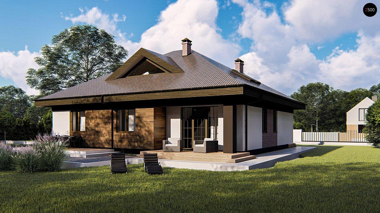 Комфортный одноэтажный дом с мансардой 4