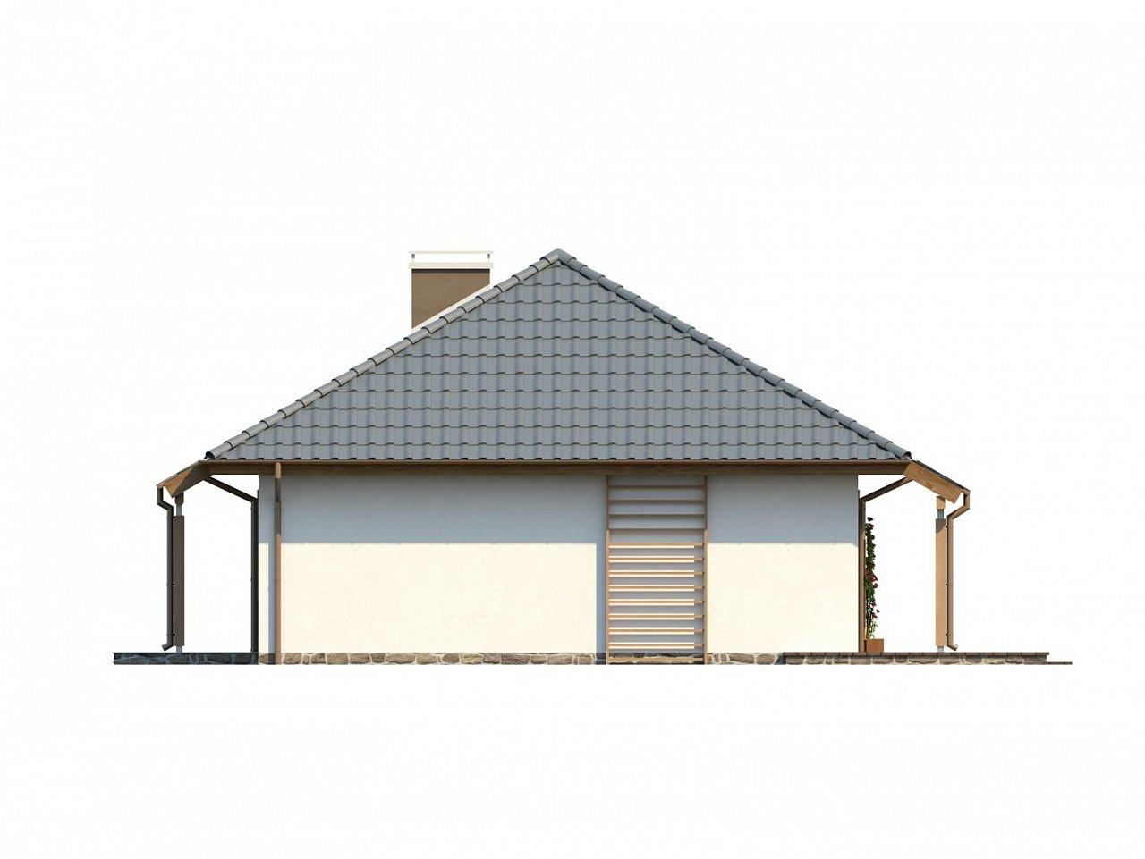 Проект одноэтажного классического дома адаптированного для каркасной технологии строительства. - фото 16