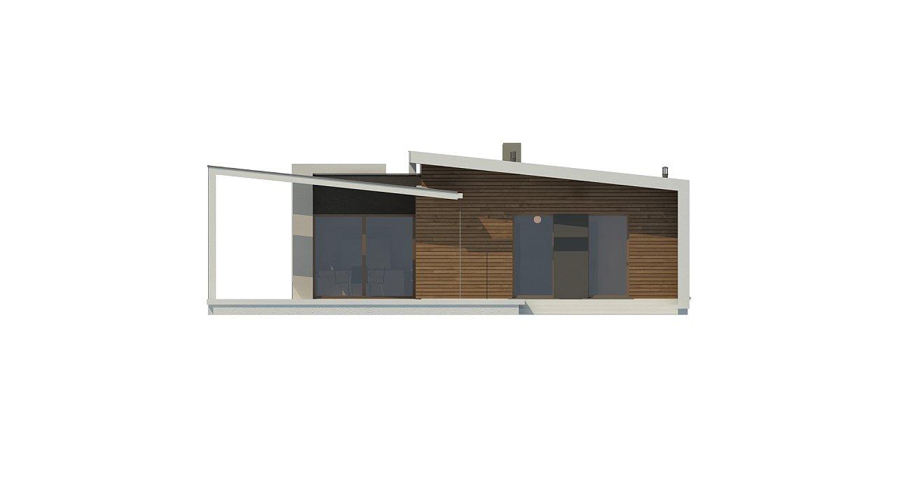 Проект современного дома в стиле хай-тек с двумя спальнями. - фото 19