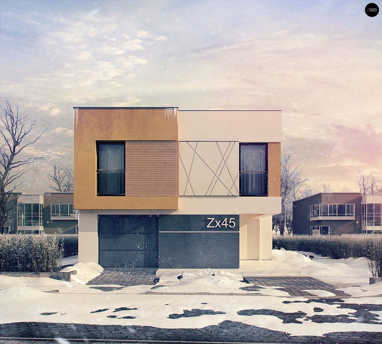 Дом характерного современного дизайна с гаражом и кабинетом на первом этаже. - фото 2