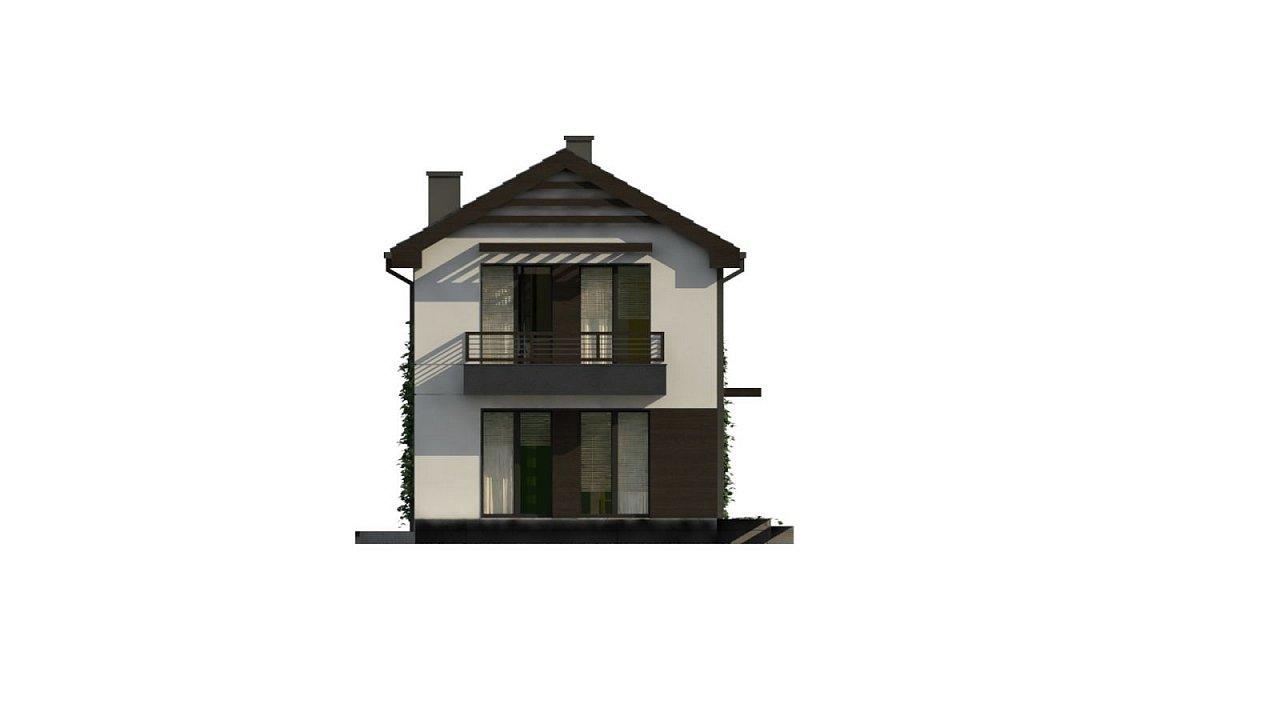 Проект двухэтажного дома в современном стиле, подойдет для строительства на узком участке. - фото 8