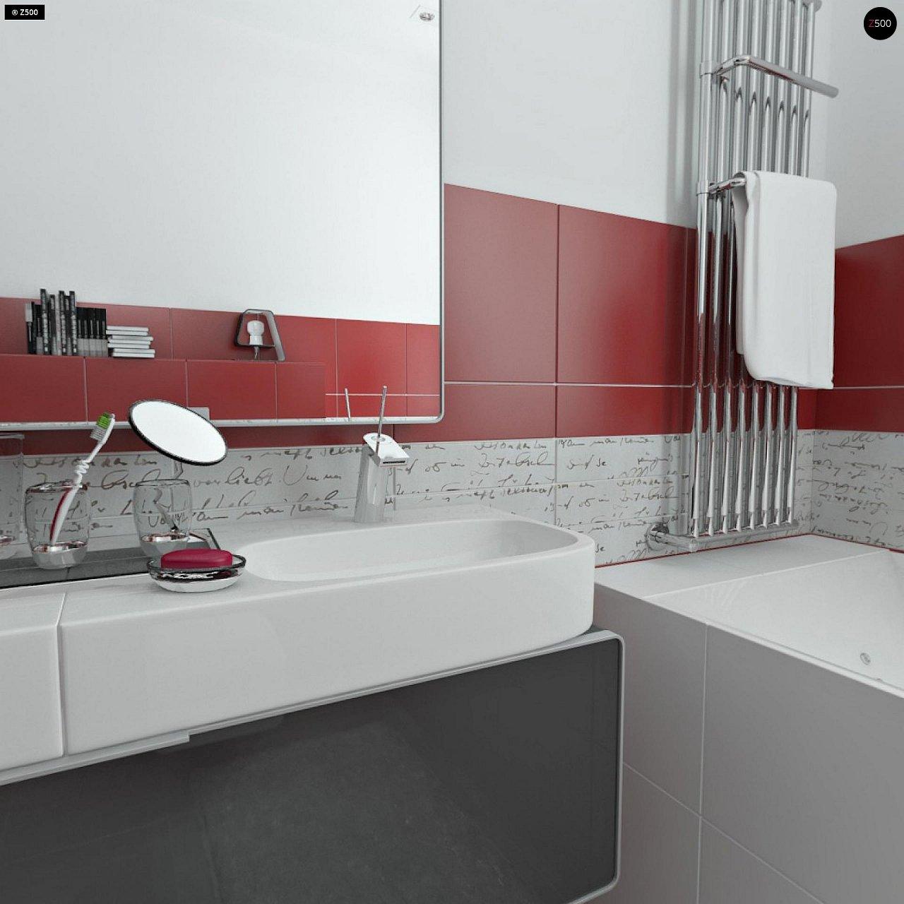 Проект элегантного дома с четырехскатной кровлей. 19