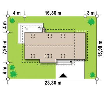 Версия проекта Z79 с гаражом с правой стороны. план помещений 1