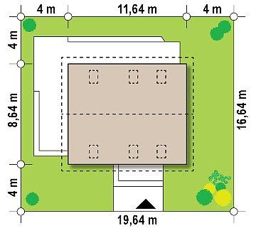 Вариант Z255 c жилой мансардой план помещений 1