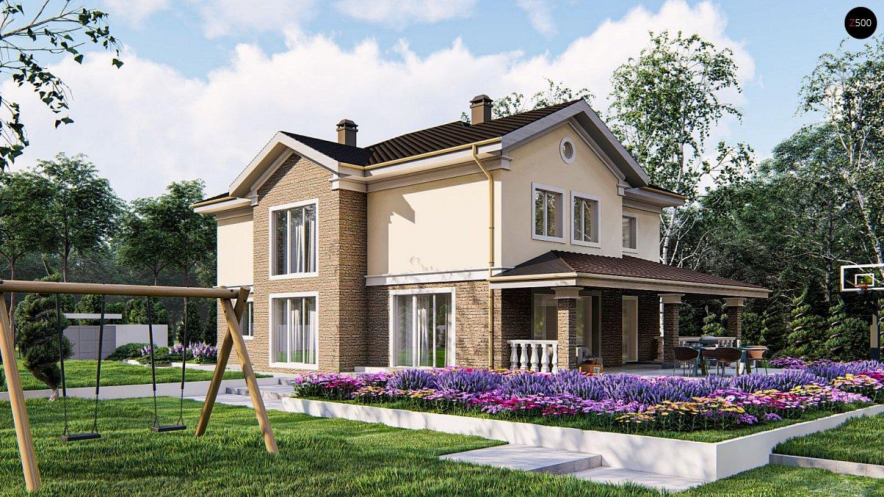 Элегантный двухэтажный классический дом с балконом - фото 3