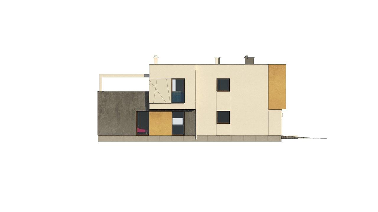 Дом характерного современного дизайна с гаражом и кабинетом на первом этаже. - фото 41