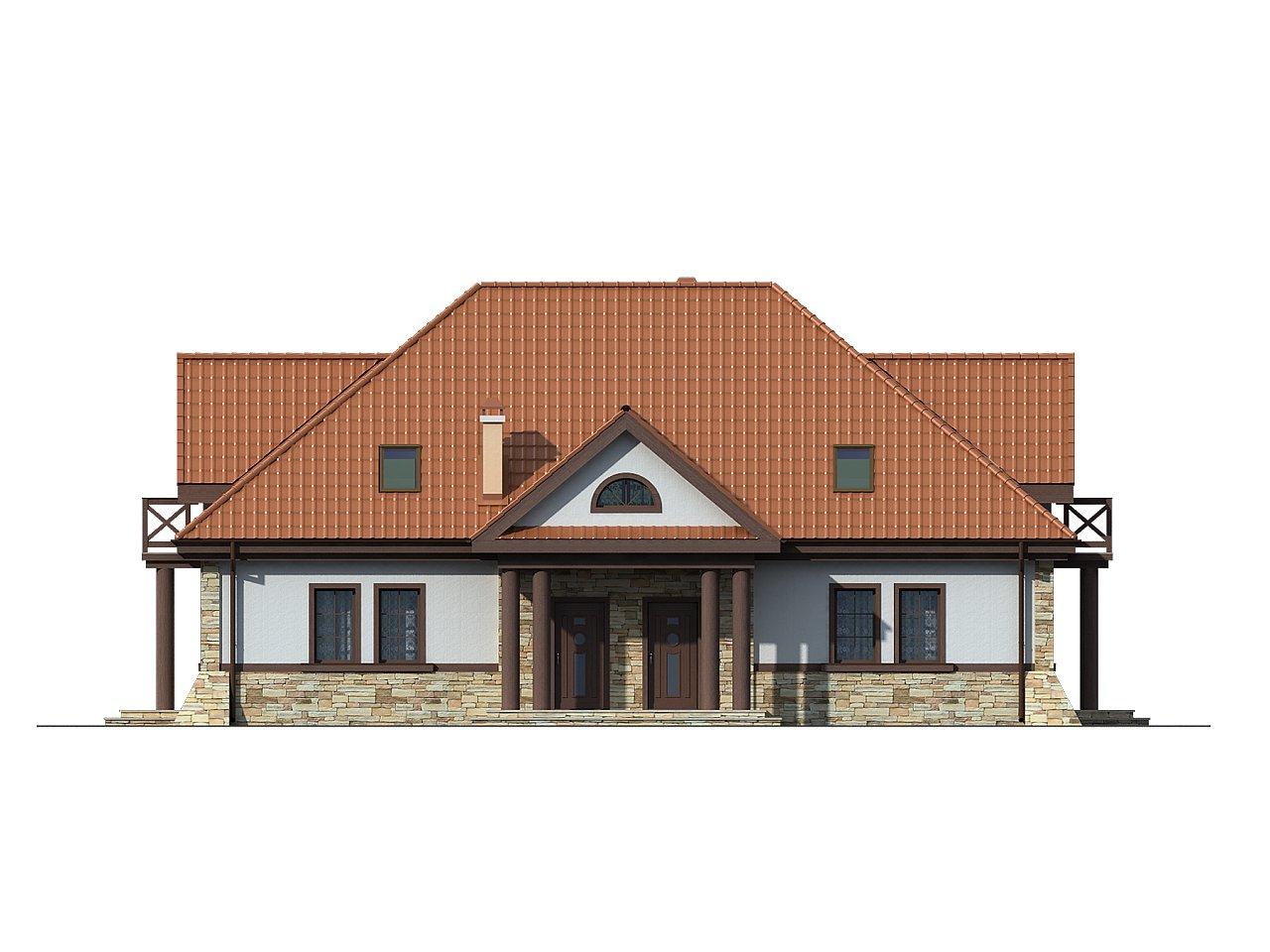 Проект двухсемейного дома в стиле дворянской усадьбы. - фото 3