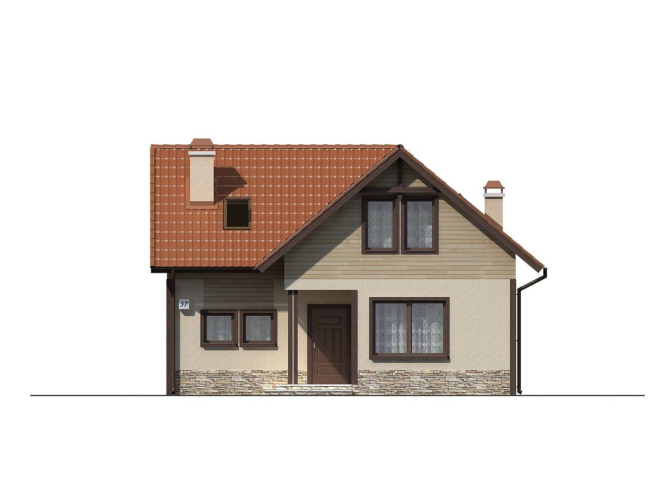 Дом для узкого участка с дополнительной спальней на первом этаже и кухней со стороны сада. 3