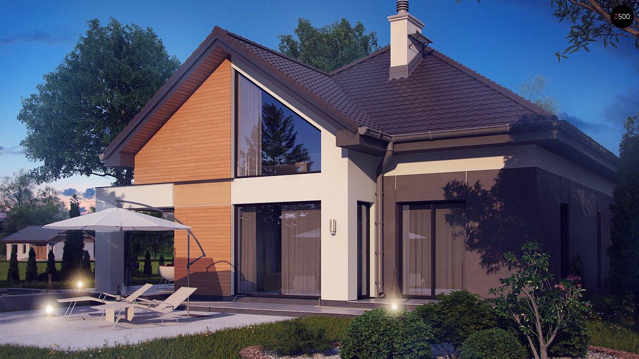 Необычные мансардные окна, фронтальный гараж и современные фасады выделяют этот проект среди остальных. 3
