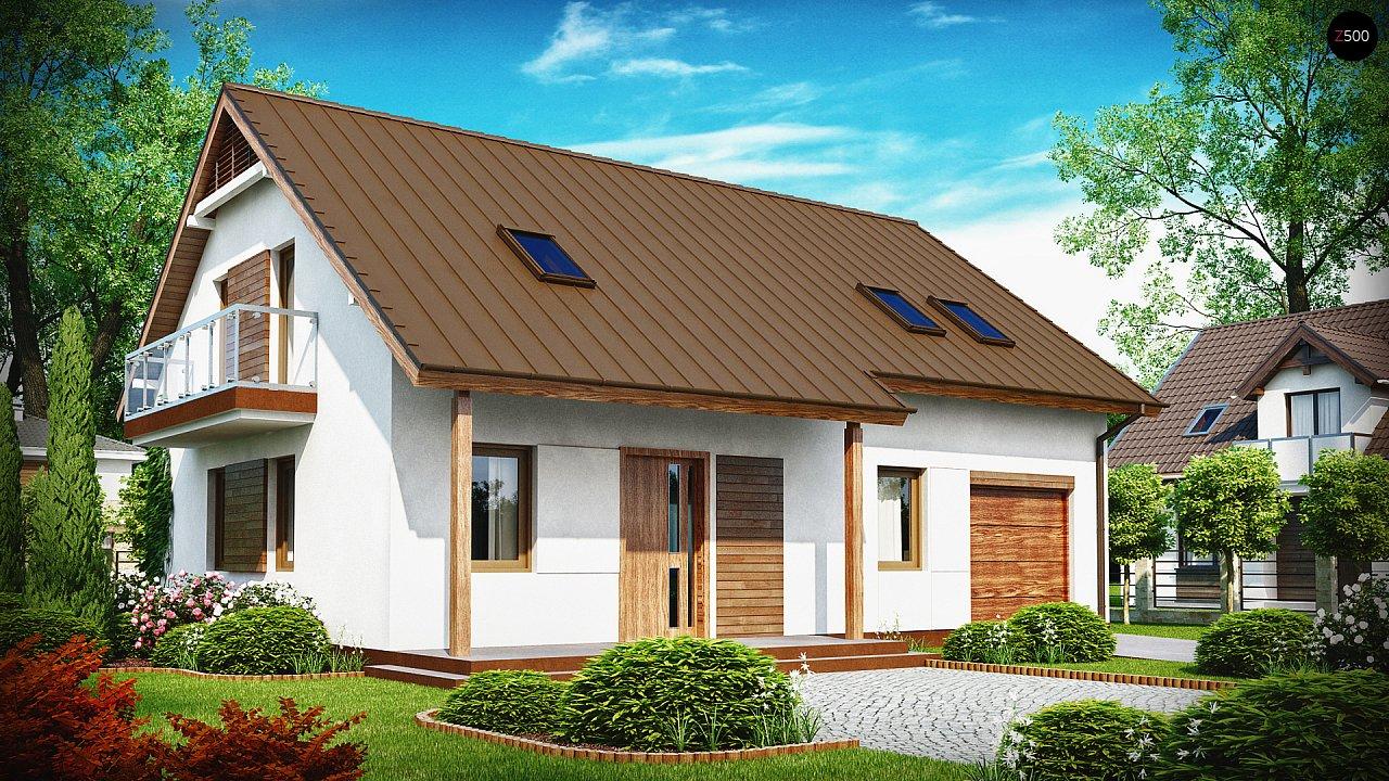 Практичный дом с мансардой, встроенным гаражом и дополнительной спальней на первом этаже. - фото 1