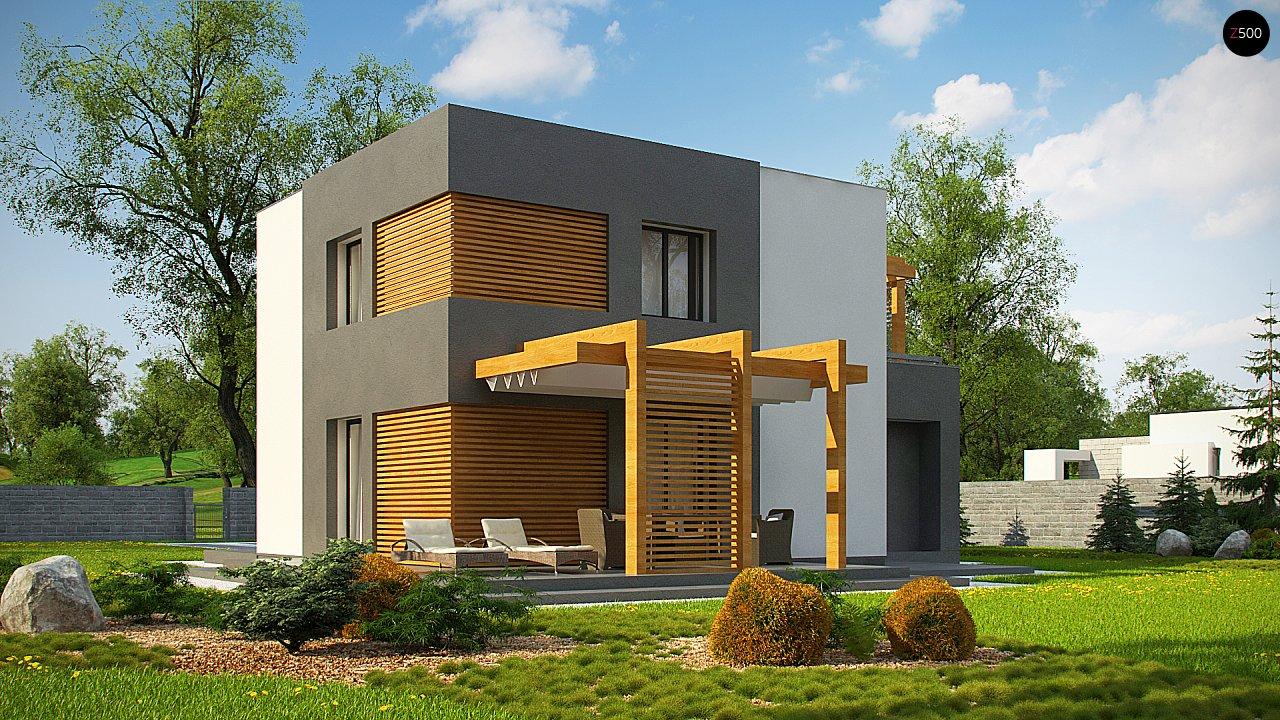 Двухэтажный коттедж современного лаконичного дизайна 5
