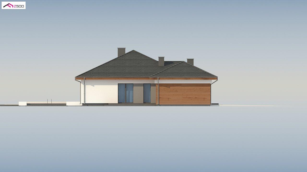Проект комфортного одноэтажного дома с гаражом для двух авто. 8