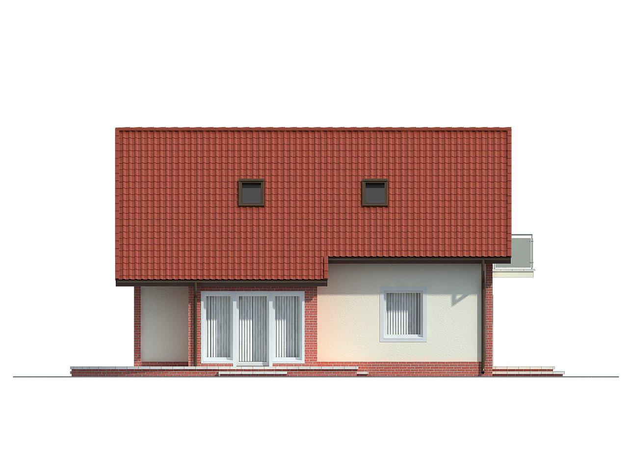 Экономичный в строительстве дом с дополнительной спальней на первом этаже. 6