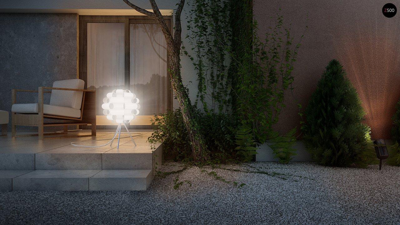 Одноэтажный дом в стиле хай-тек с четырьмя спальнями. - фото 10