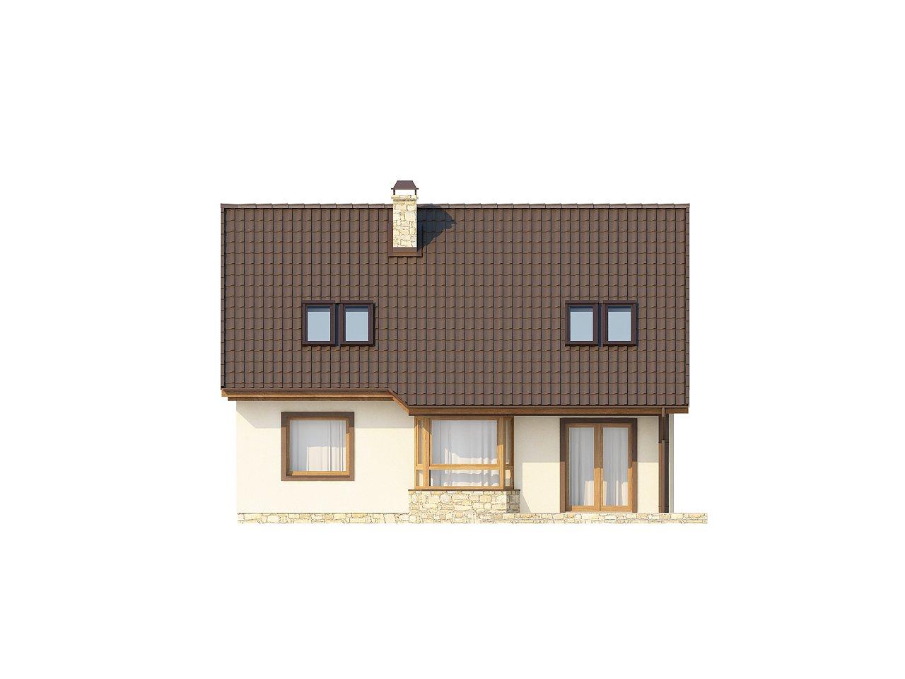 Выгодный и простой в строительстве дом с эркером в дневной зоне. 22