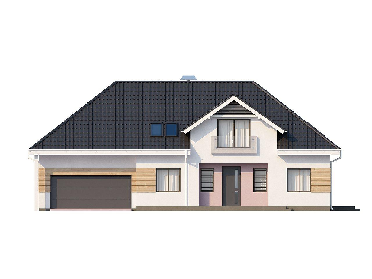 Комфортный стильный дом с большим гаражом для двух автомобилей и дополнительной комнатой над ним. 3