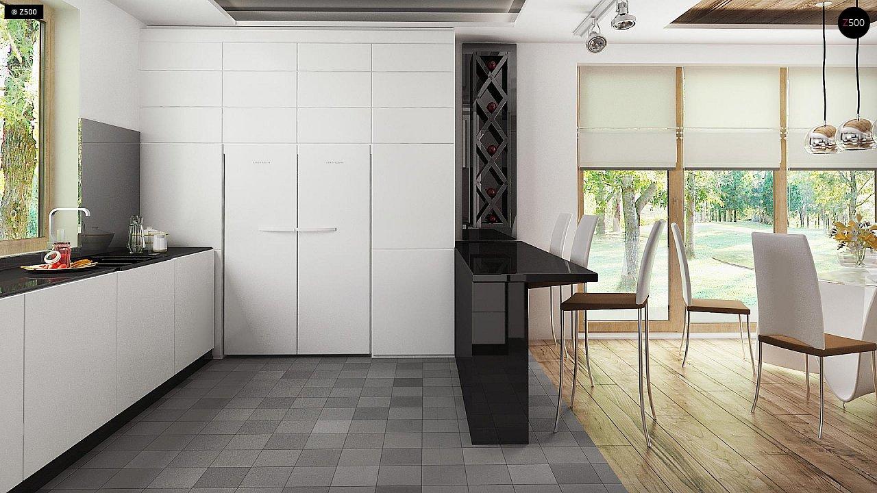 Проект комфортного дома с большим гаражом и дополнительной спальней на первом этаже. 9