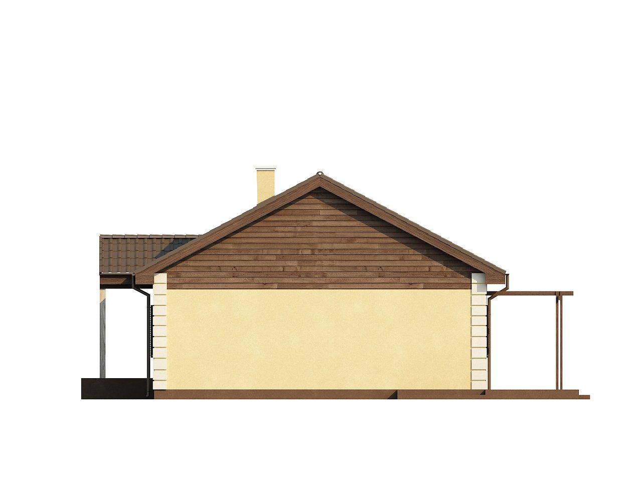 Выгодный и простой в строительстве дом полезной площадью 100 м2. 15