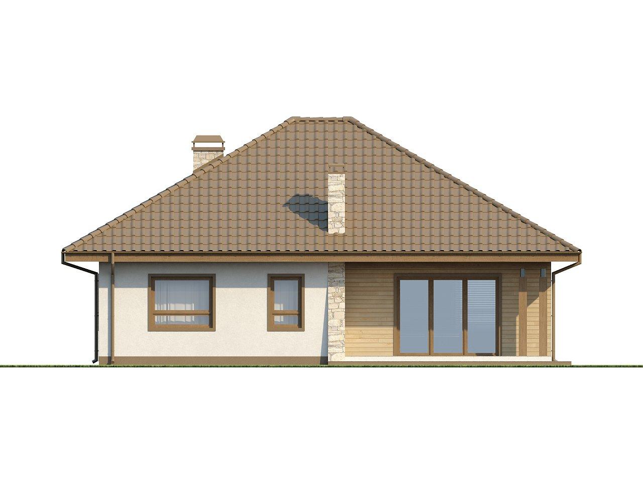 Практичный одноэтажный дом с большим гаражом, просторной гостиной и двумя спальнями. 14