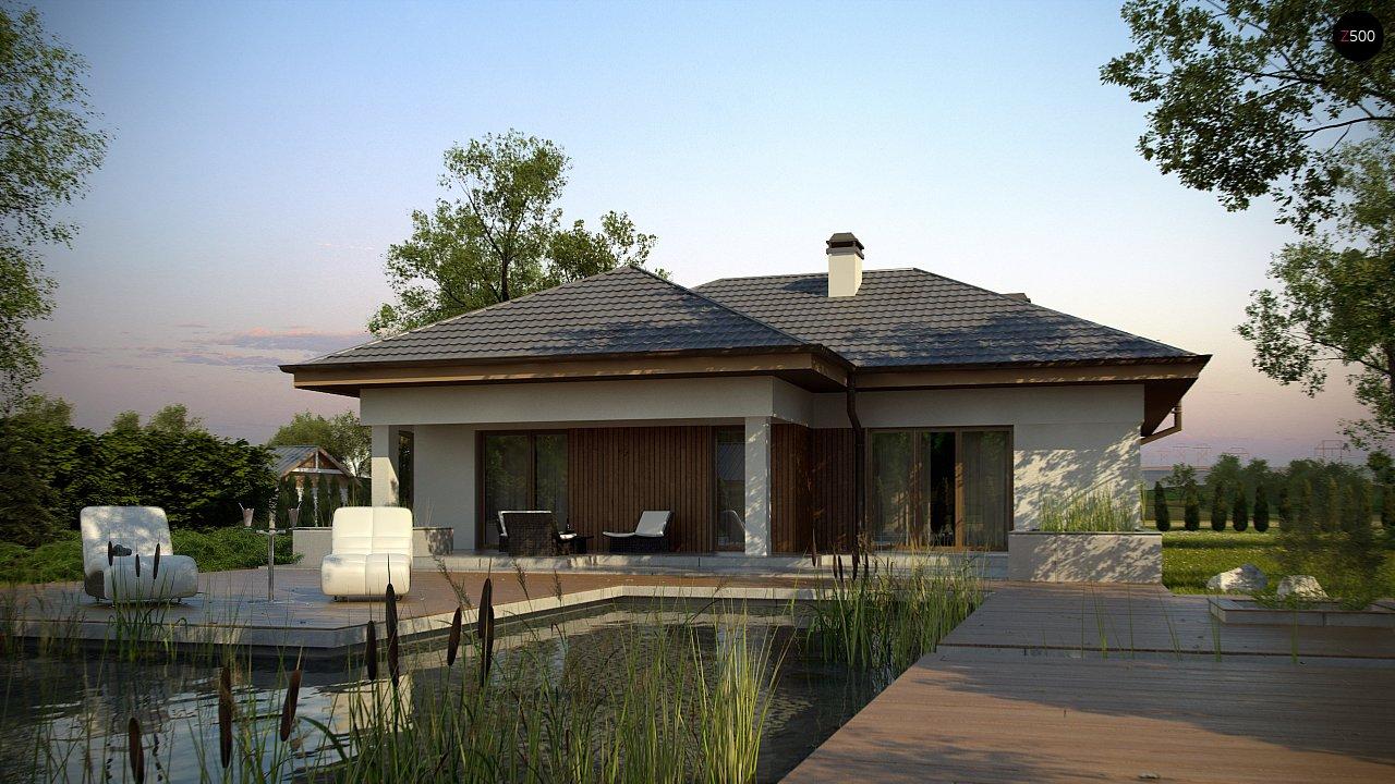 Одноэтажный дом с многоскатной крышей, с удобным функциональным интерьером. 5