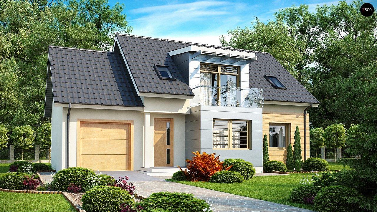 Традиционный практичный дом с современными элементами архитектуры. 1
