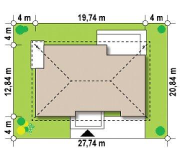 Проект просторного одноэтажного дома с 4 спальнями. план помещений 1