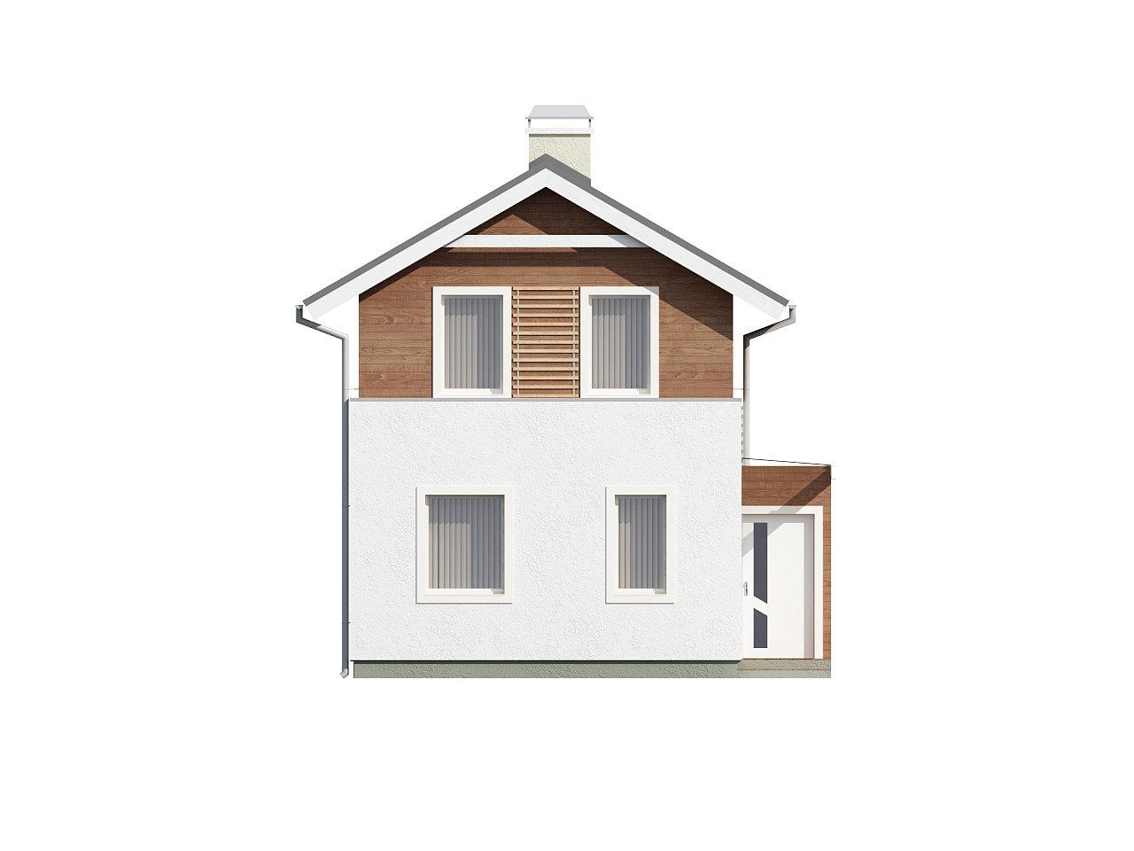 Проект двухэтажного дома для очень узкого участка. - фото 3