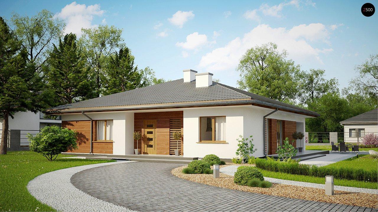 Стильный одноэтажный дом с комфортной крытой террасой 1