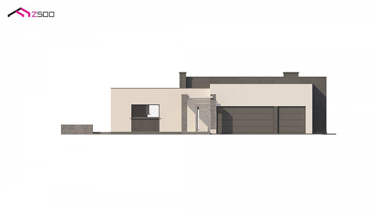 Одноэтажный дом в современном стиле с гаражом на 3 машины, с плоской кровлей 7