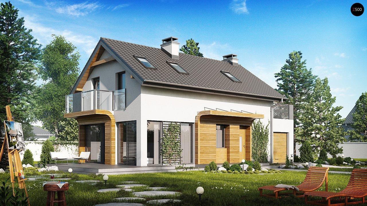 Практичный и уютный дом с оригинальным оформлением фасадов, идеальный для неглубокого участка. - фото 2