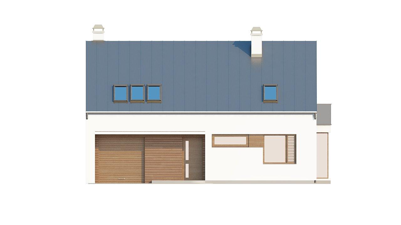 Комфортный дом с гаражом простого аккуратного дизайна. 3