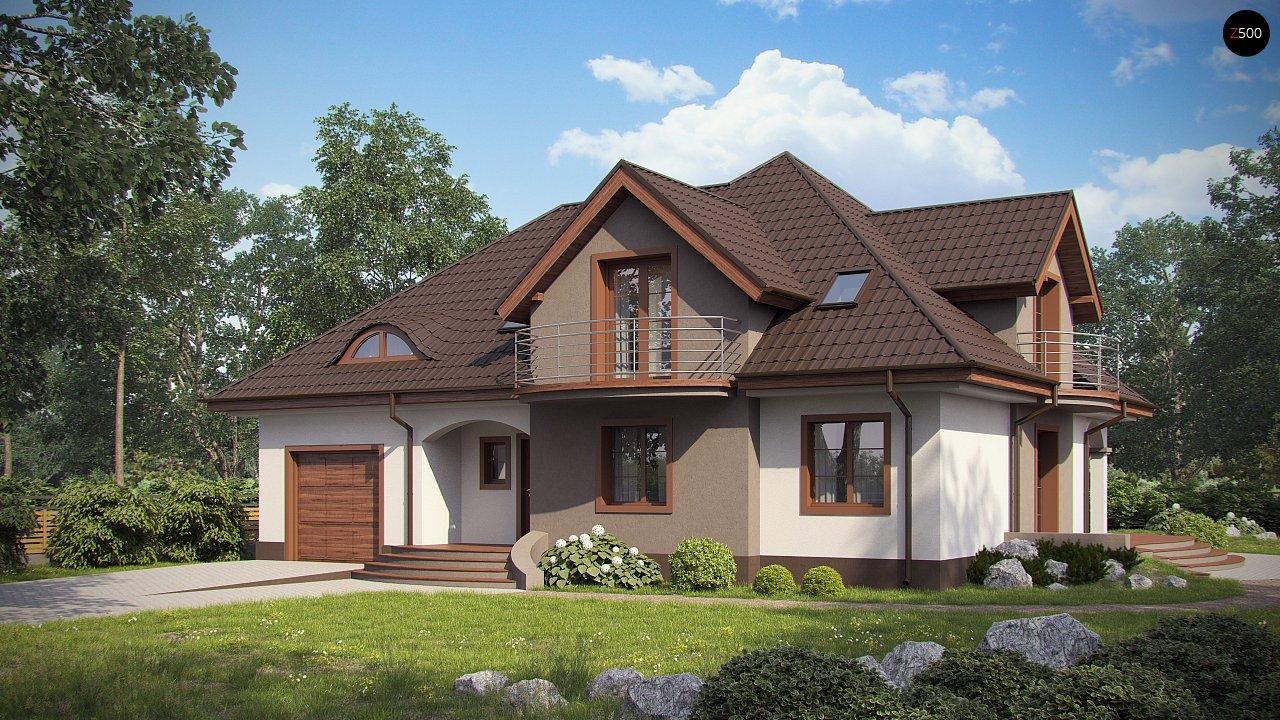 Версия проекта Z18 со встроенным гаражом с левой стороны дома - фото 1