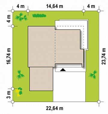 Вариант проекта Zx35 с гаражом на две машины план помещений 1