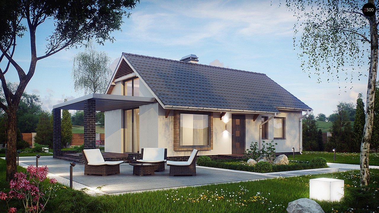 Маленький и функциональный одноэтажный дом, выгодный в строительстве и эксплуатации. - фото 2