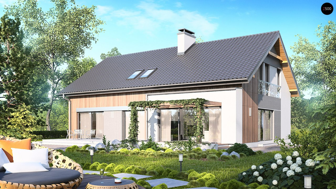 Проект двухсемейного дома с отдельной удобной «квартирой» площадью 58 м2. 2