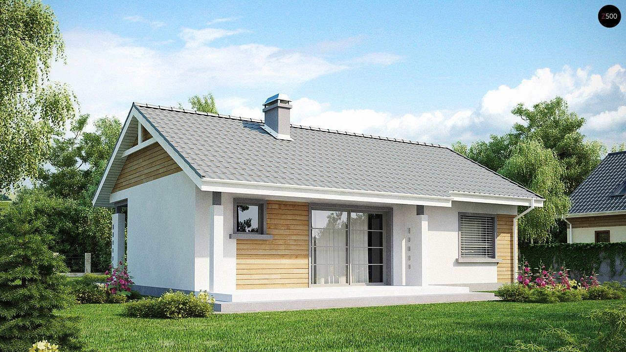 Выгодный компактный одноэтажный дом с угловым окном в кухне. 2