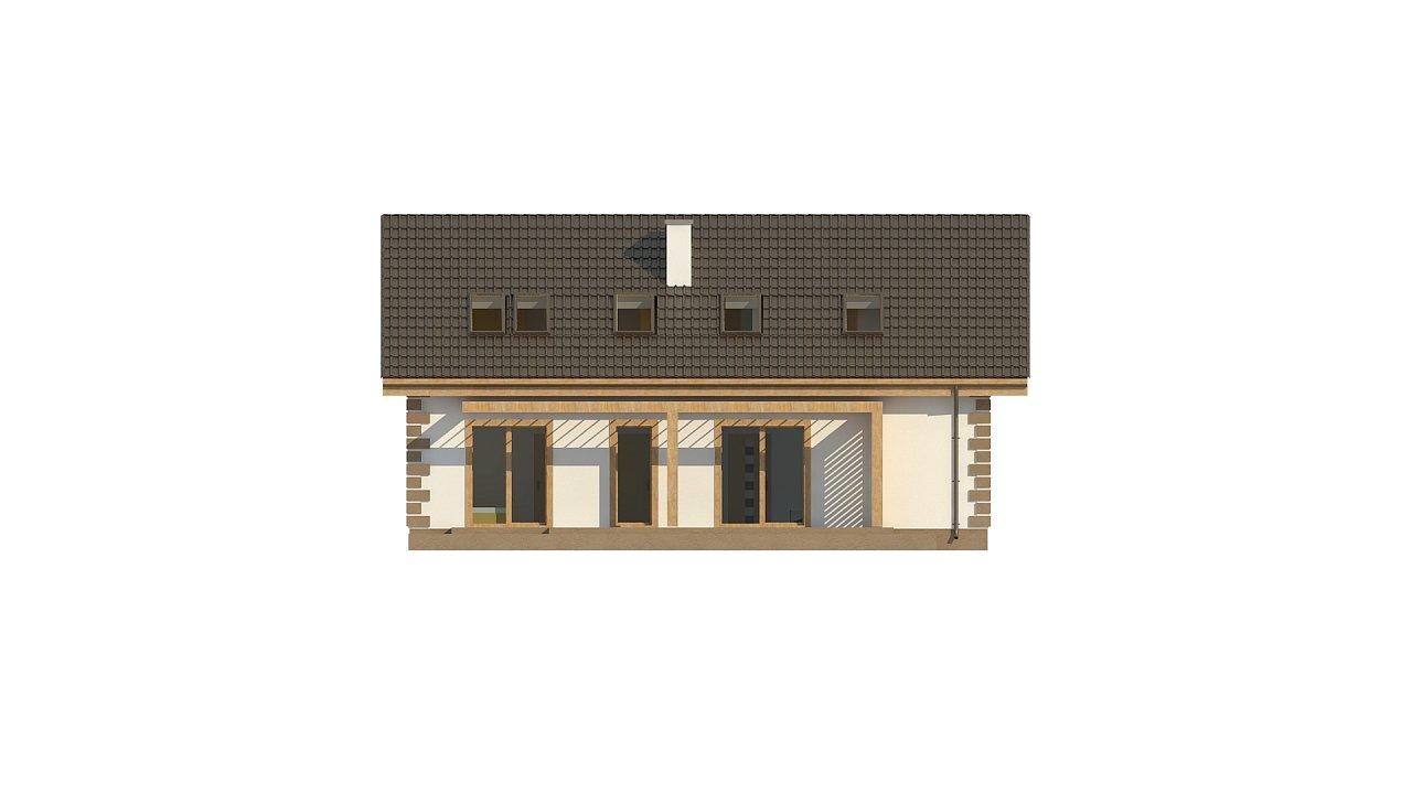 Классический мансардный дом с двускатной кровлей и 5 комнатами. - фото 8